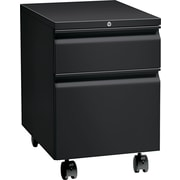 HON® Flagship® 22 7/8D 2 Drawer Full Radius Pull Mobile Box/File Pedestal, Black