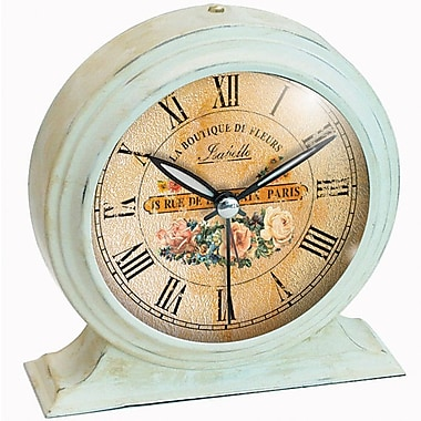 Infinity Instruments 10415 Boutique Steel Analog Table Clock