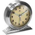 Infinity Instruments Boutique Alarm Clock, Silver