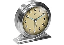 Infinity Instruments 10415-1264 Boutique Steel Analog Table Clock, Silver