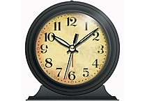 Infinity Instruments Boutique Alarm Clock, Black