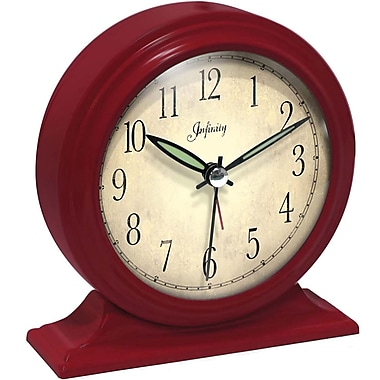 Infinity Instruments Boutique Alarm Clock, Red