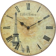 Infinity Instruments Traditional Eiffel Tower Tribute Wall Clock