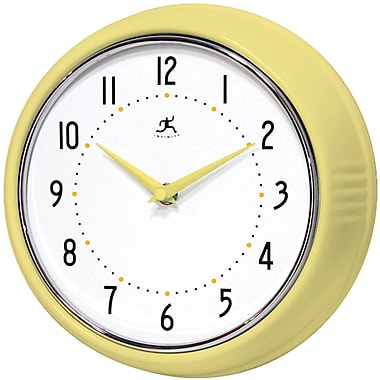 Infinity Instruments 10940-AURA Retro Steel Analog Wall Clock, Aurora
