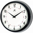 Infinity Instruments Home Essentials Retro, Black Solid Iron Wall Clock