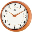 Infinity Instruments Home Essentials Retro, Orange Solid Iron Wall Clock