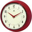 Infinity Instruments Home Essentials Retro, Red Solid Iron Wall Clock