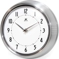 Infinity Instruments Home Essentials Retro, Silver Solid Iron Wall Clock