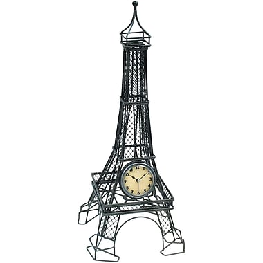 Infinity Instruments Eiffel Tower Tabletop Clock