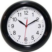 Infinity Instruments 11316BK/830 Focus Resin Analog Wall Clock, Black