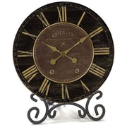 Infinity Instruments 11721-1796 The Parlor Wood Analog Table Clock, Black