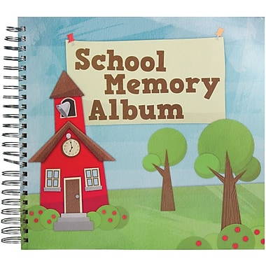 Karen Foster School Memories Spiral Bound Album 12in. x 12in.