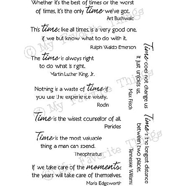My Favorite Things Clearly Sentimental Sheet, Time