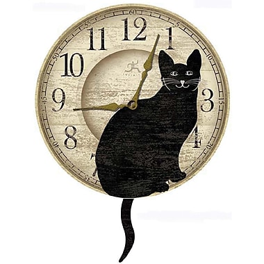 Infinity Instruments Novelty Wagging Cat Wall Clock