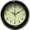 Infinity Instruments Spartan Deep Resin Black Case Wall Clock