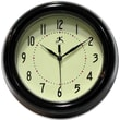 Infinity Instruments Spartan Deep Resin Black Case Wall Clock