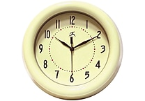 Infinity Instruments Spartan Deep Resin Ivory Case Wall Clock
