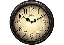 Infinity Instruments Traditional Precedent Wall Clock, Black