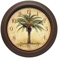 Infinity Instruments Traditional Cabana Wall Clock, Brown