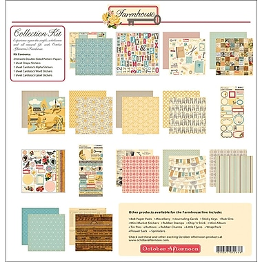 October Afternoon Farmhouse Collection Kit, 12in. x 12in.