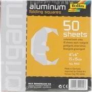 "Global Art Folia Origami Paper, 6"" x 6"", Aluminum, 50/Pkg, Assorted"