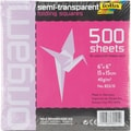 Global Art Folia Origami Paper, 6in. x 6in. Transparent, 500/Pkg, Assorted