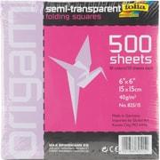 "Global Art Folia Origami Paper, 6"" x 6"" Transparent, 500/Pkg, Assorted"