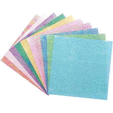 Global Art Folia Origami Paper, 6in. x 6in., Textured Iridescent, 50/Pkg, Dot Embossing