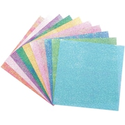 "Global Art Folia Origami Paper, 6"" x 6"", Textured Iridescent, 50/Pkg, Dot Embossing"