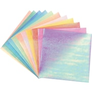 Global Art Folia Origami Paper, 6 x 6, Textured Iridescent, 50/Pkg, Fabric Embossing