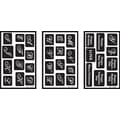 Armour Products Over 'n' Over Reusable Glass Etching Stencils, Alphabet