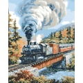 Plaid:Craft Paint By Number Kit, 16in. x 20in., Steam Locomotives