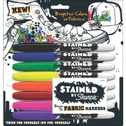 Sharpie Sanford Brush Point Fabric Marker, Assorted, 8/Pack