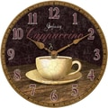 Infinity Instruments Novelty Dreamy Cappuccino Wall Clock