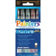 Elmers/X-Acto Metallic Shimmer Markers, 5/Pkg, Assorted