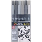 Sakura Koi Coloring Brush Pen Set, 6/Pack (XBR-6SA)