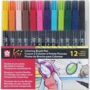 Sakura Koi Coloring Brush Pen Set, 12/Pack (XBR-12SA)