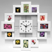 Infinity Instruments Modern Picture Frame Wall Clock