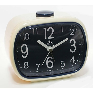 Infinity Instruments 13229-2449 That 70's Plastic Analog Table Clock