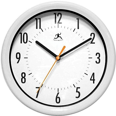 Infinity Instruments Facile-White Business Wall Clock