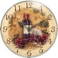 Infinity Instruments Novelty Vin Rouge Wall Clock