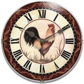 Infinity Instruments Novelty  Rooster Wall Clock, 12in. Diameter