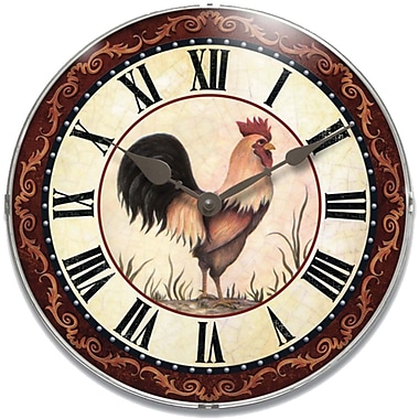 Infinity Instruments Novelty Rooster Wall Clocks