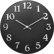 Infinity Instruments Open Faced Wall Clock, Black Face