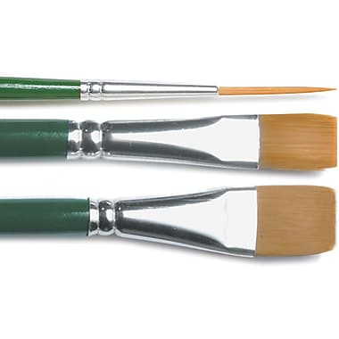 Plaid:Craft One Stroke Brush Set,-#2 Script, #12 Flat, 3/4in. Flat