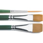 Plaid:Craft One Stroke Brush Set,-#2 Script, #12 Flat, 3/4 Flat