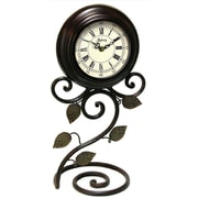 Infinity Instruments Tabletop Iron Perrenial Table Clock