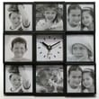 Infinity Instruments Modern Photo Frame Wall Clock
