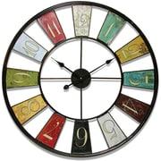"Infinity Instruments Traditional 31.5"" Kaleidoscope Large Wall Clock"