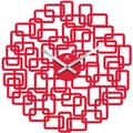 :  Infinity Instruments Helix Modern Red Open Face Wall Clock